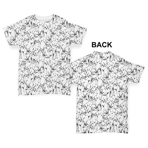 Deer Sketch Pattern Baby Toddler ALL-OVER PRINT Baby T-shirt