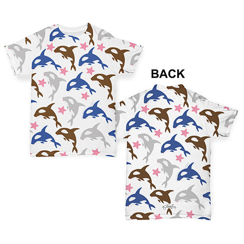 Orca Whales Baby Toddler ALL-OVER PRINT Baby T-shirt