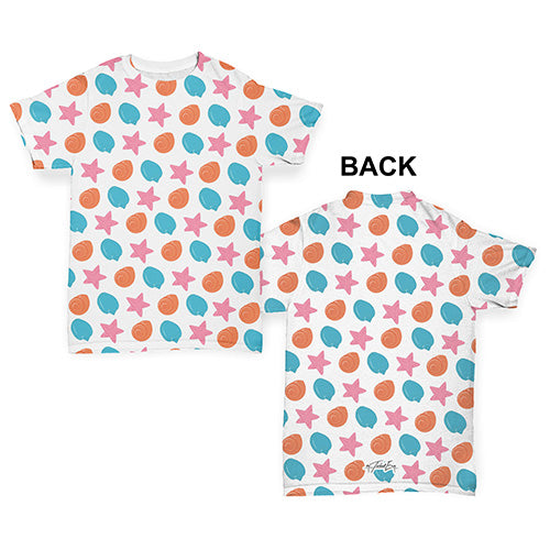 Seashells and Starfishes Baby Toddler ALL-OVER PRINT Baby T-shirt