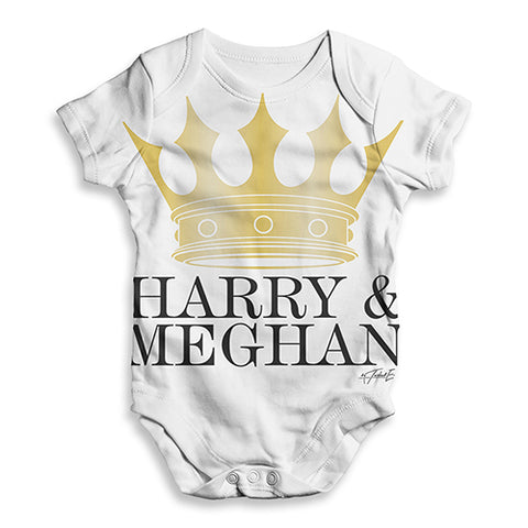 Meghan and Harry The Royal Wedding Baby Unisex ALL-OVER PRINT Baby Grow Bodysuit