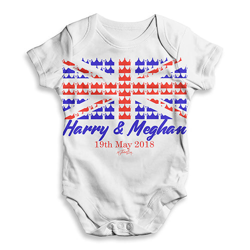 Royal Wedding May 2018 Harry & Megan Baby Unisex ALL-OVER PRINT Baby Grow Bodysuit
