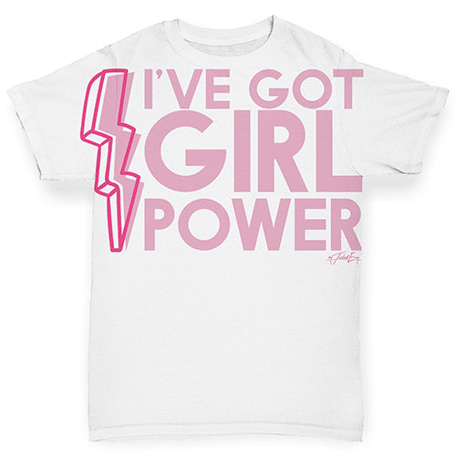 I've Got Girl Power Baby Toddler ALL-OVER PRINT Baby T-shirt