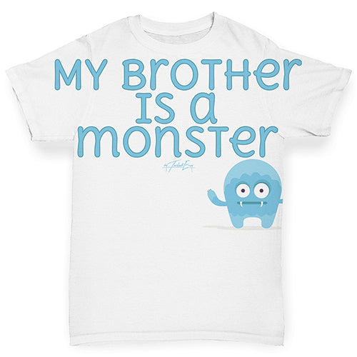 My Brother Is A Monster Baby Toddler ALL-OVER PRINT Baby T-shirt