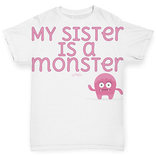My Sister Is A Monster Baby Toddler ALL-OVER PRINT Baby T-shirt