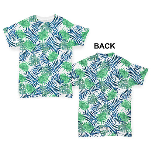 Palm Leaves Pattern Baby Toddler ALL-OVER PRINT Baby T-shirt