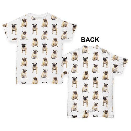 Pugs Pugs Pugs Pattern Baby Toddler ALL-OVER PRINT Baby T-shirt