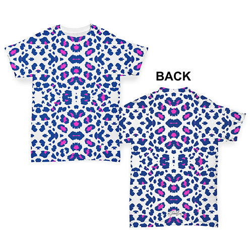 Blue Leopard Print Pattern Baby Toddler ALL-OVER PRINT Baby T-shirt