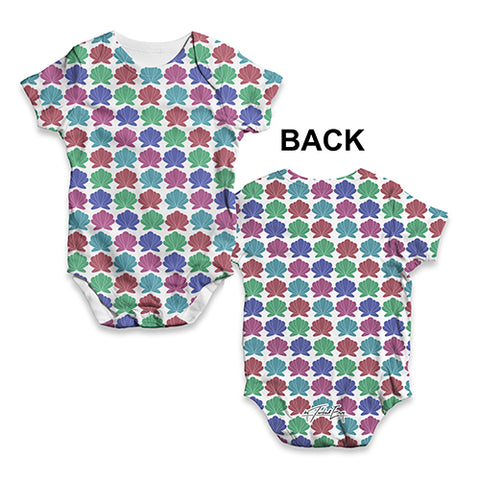 Baby Boy Clothes Sea Shells Repeat Baby Unisex ALL-OVER PRINT Baby Grow Bodysuit 3-6 Months White