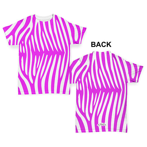 Pink Zebra Pattern Baby Toddler ALL-OVER PRINT Baby T-shirt