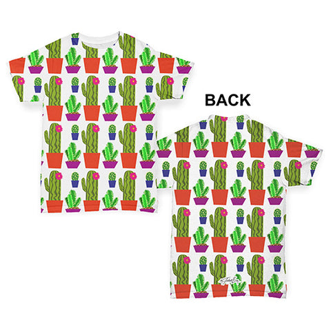 Cute Cacti Repeat Pattern Baby Toddler ALL-OVER PRINT Baby T-shirt
