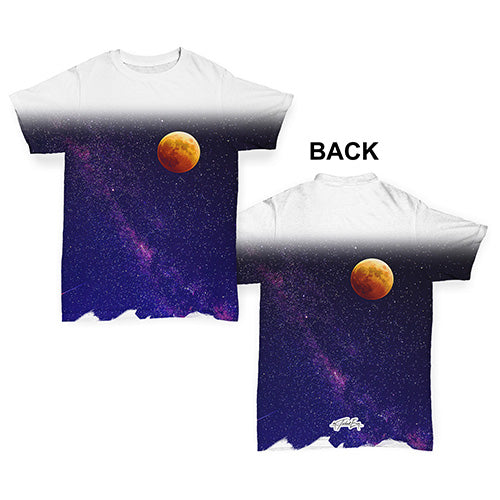 Red Moon Galaxy Baby Toddler ALL-OVER PRINT Baby T-shirt