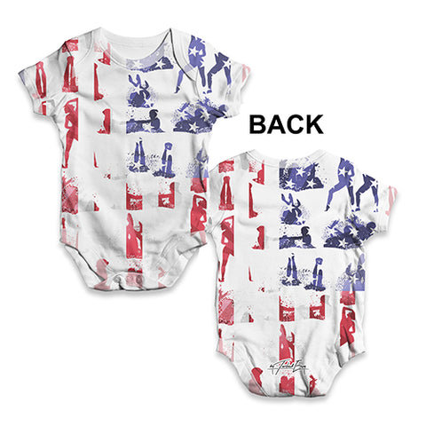 USA Synchronised Swimming Collage Baby Unisex ALL-OVER PRINT Baby Grow Bodysuit