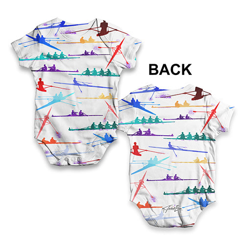 Rowing Rainbow Collage Baby Unisex ALL-OVER PRINT Baby Grow Bodysuit