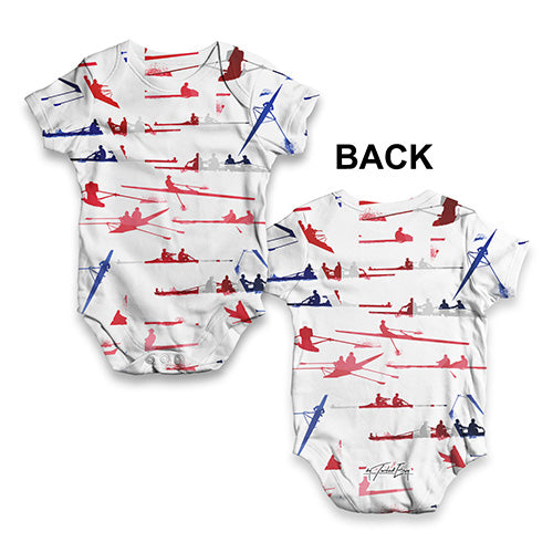 GB Rowing Collage Baby Unisex ALL-OVER PRINT Baby Grow Bodysuit