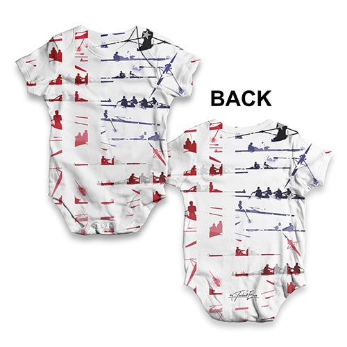 USA Rowing Collage Baby Unisex ALL-OVER PRINT Baby Grow Bodysuit