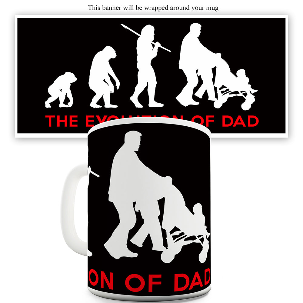 Evolution Of Dad Father's Day Funny Mugs For Coworkers