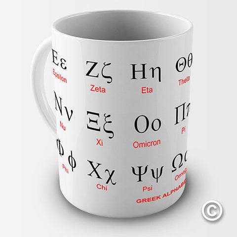 Greek Alphabet Ceramic Mug