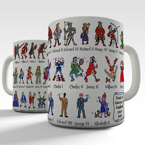 Kings and Queens of England Novelty Mug