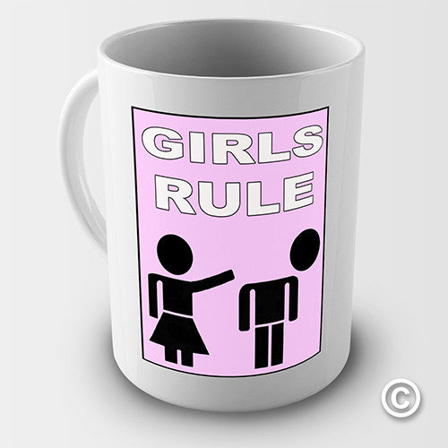 Girls Rule Novelty Mug