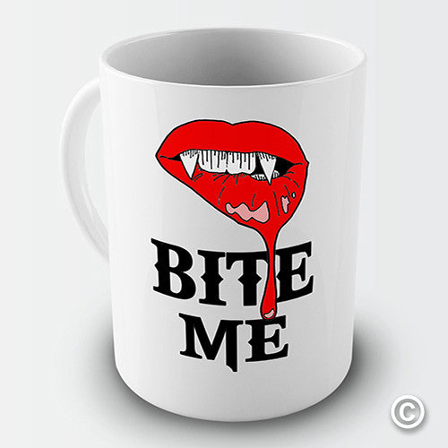 Bite Me! Fangs Novelty Mug