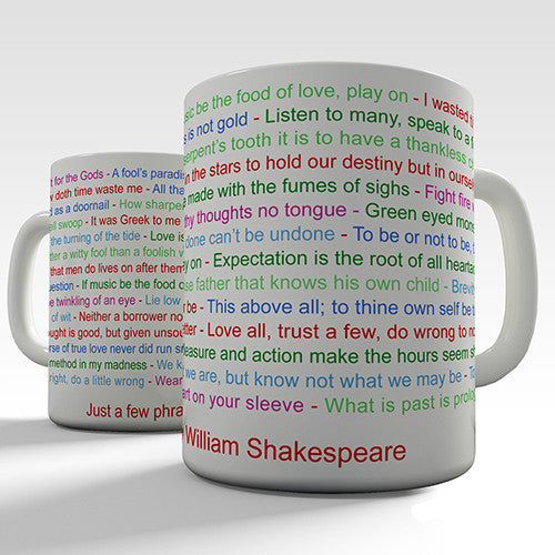 William Shakespeare Phrase Novelty Mug