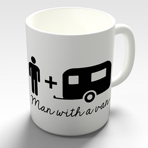Practical Caravan Man Novelty Mug