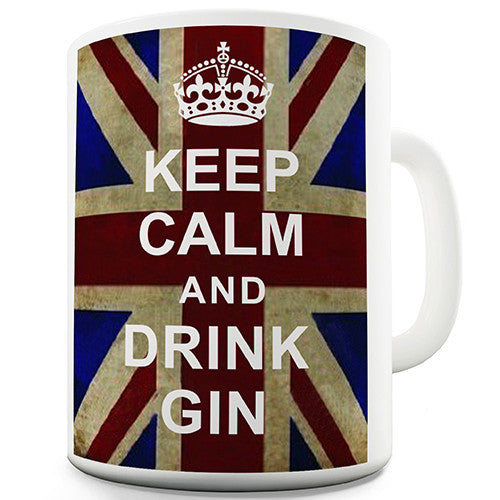 Keep Calm And Drink Gin Novelty Mug