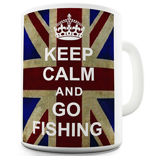 Keep Calm And Go Fishing Novelty Mug