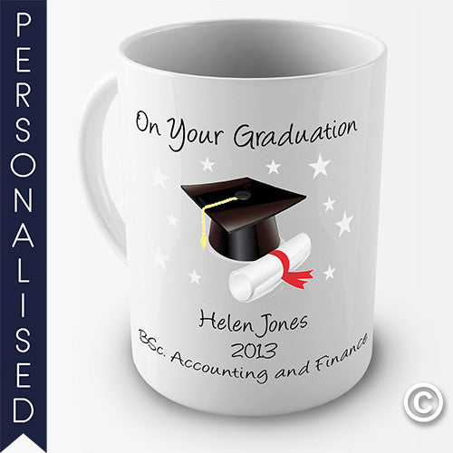 On Your Graduation Personalised Mug - Twisted Envy Funny, Novelty and Fashionable tees