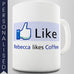 Facebook Coffee Lover Personalised Mug - Twisted Envy Funny, Novelty and Fashionable tees
