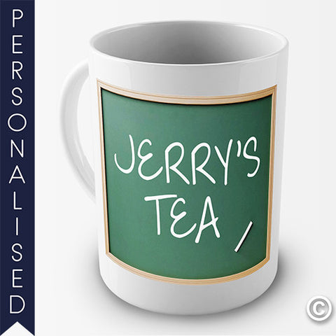 Your Name On The Blackboard Personalised Mug - Twisted Envy Funny, Novelty and Fashionable tees