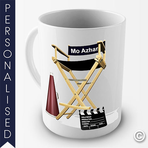 Directors Chair Personalised Mug - Twisted Envy Funny, Novelty and Fashionable tees