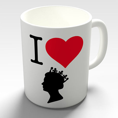 I Heart The Queen Novelty Mug