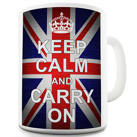 Keep Calm Union Jack Novelty Mug