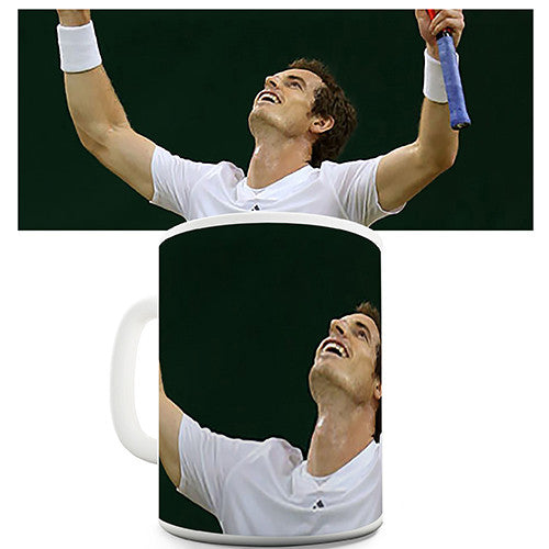 Andy Murray Wimbledon Champion Celebration Novelty Mug