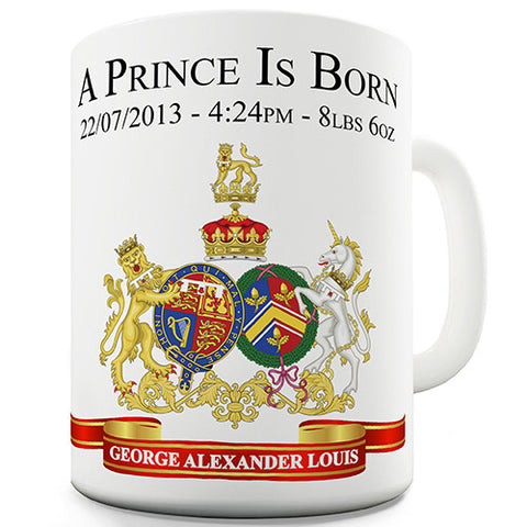 William & Kate Royal Baby George Novelty Mug