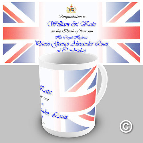 Prince George Alexander Louis Commemorative Novelty Mug