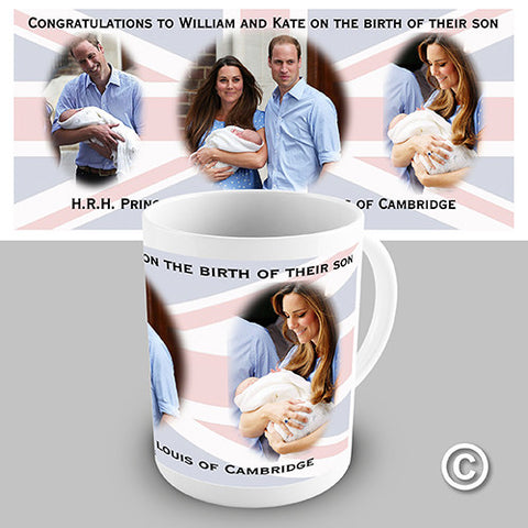 HRH Royal Baby Commemorative Novelty Mug