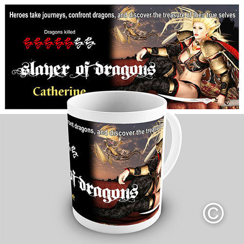 Gaming Dragon Slayer Personalised Mug