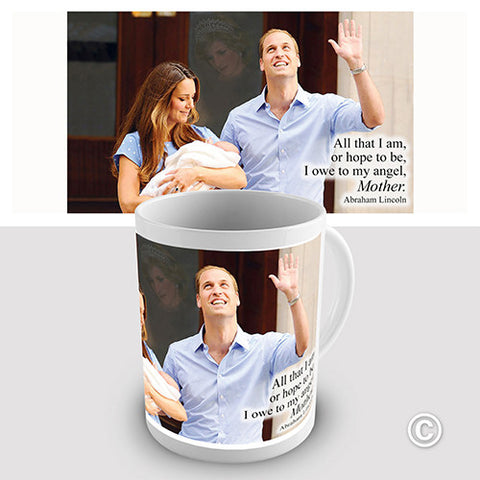 Royal Baby And Diana Novelty Mug