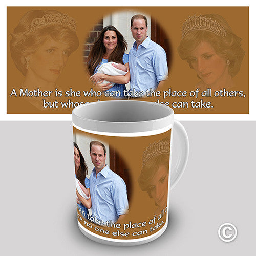 Commemorative Diana William & Kate Royal Baby Novelty Mug