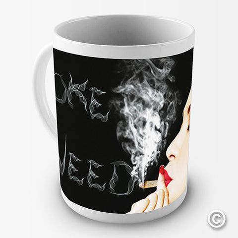 Smoke Weed Novelty Mug