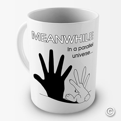 Bunny In A Parallel Universe Novelty Mug