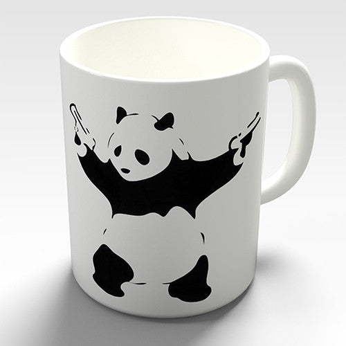 Banksy Panda With Guns Novelty Mug