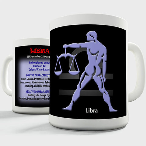 Zodiac Star Sign Libra Novelty Mug