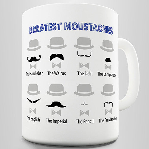 Movember Greatest Moustaches Novelty Mug