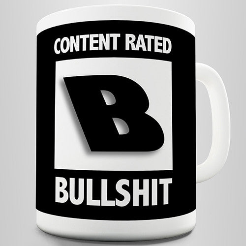 Content Rated B Funny Mug