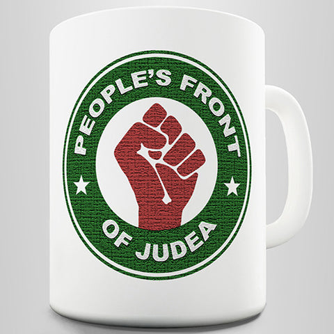 People Front Of Judea Novelty Mug
