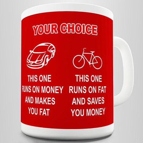 Your Choice Car Or Bike Novelty Mug