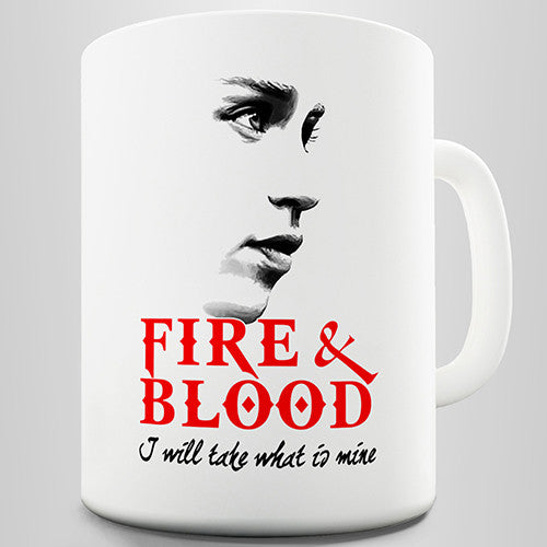 Fire & Blood Novelty Mug